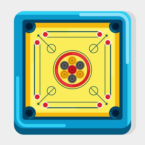 Plat Carrom bordspel