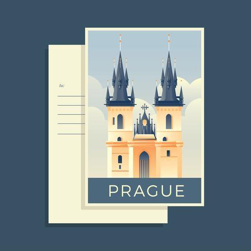 Prag Postkarte Vektor