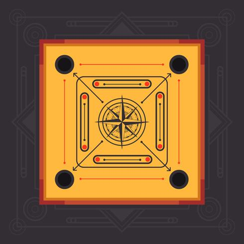 Carrom Board isométrique Vector Illustration