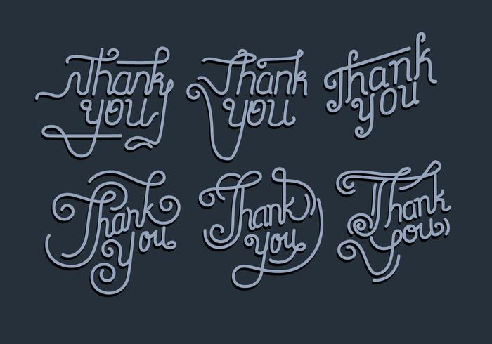 Thank You Typography Vol 2 Vector