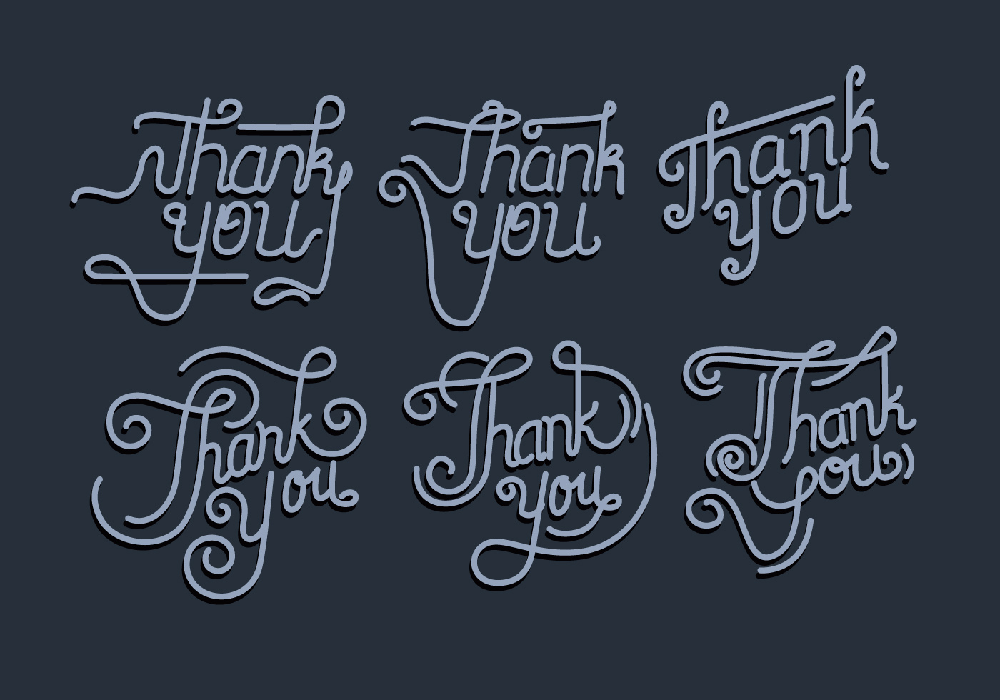Thank You Typography Vol 2 Vector Download Free Vector