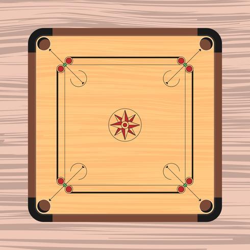 illustration de planche de carrom