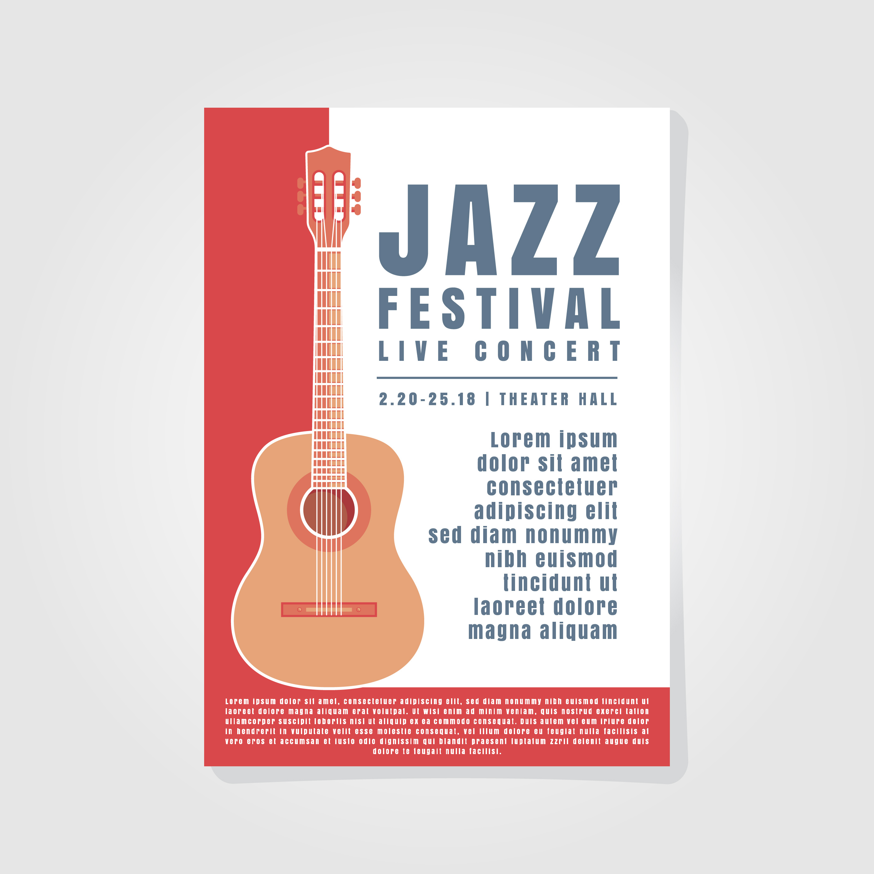 Music Poster Background Template - Download Free Vectors ...