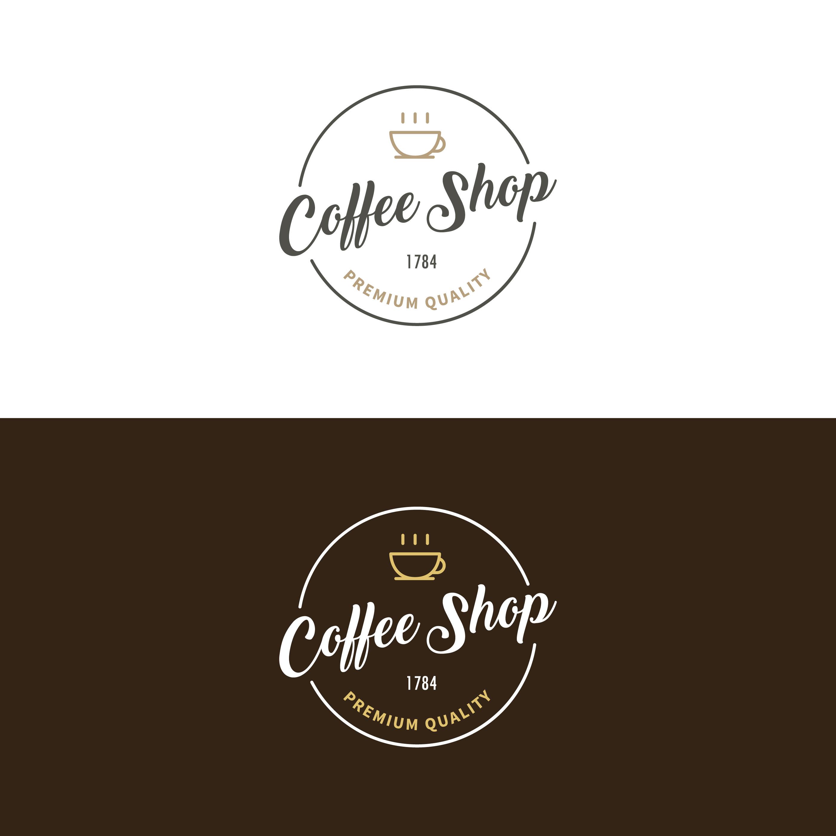 Retro Bakery Logo: Coffee Shop Logo Vector 182414