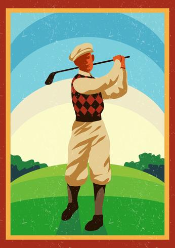 Vintage Golf vector