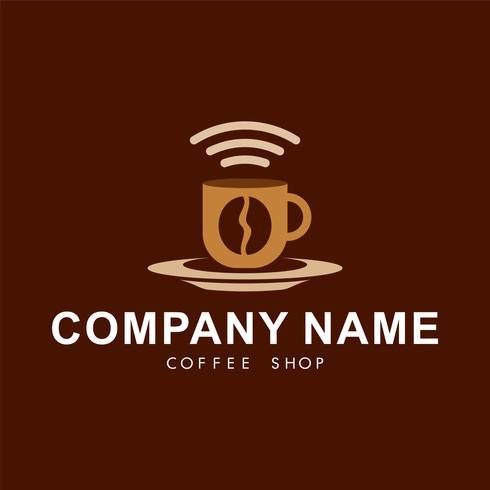 Koffie winkel logo sjabloon