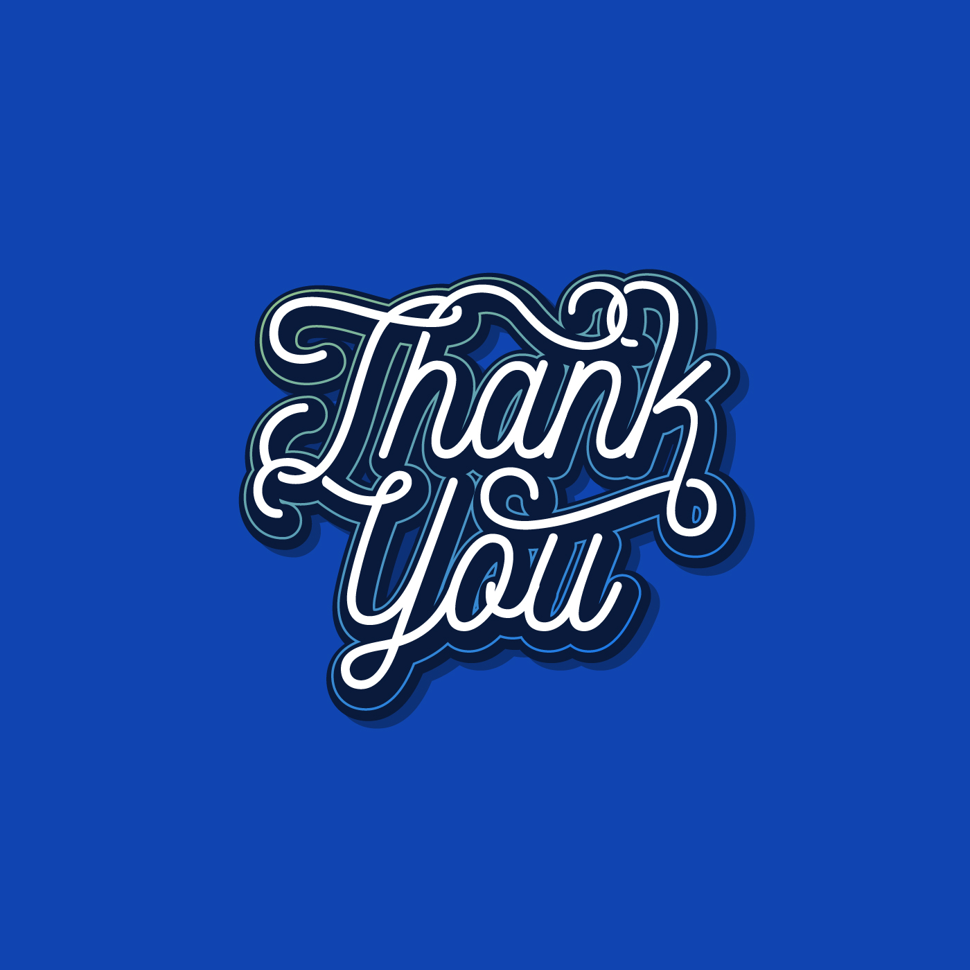 Custom Thin Script Thank You Typography Vector Download