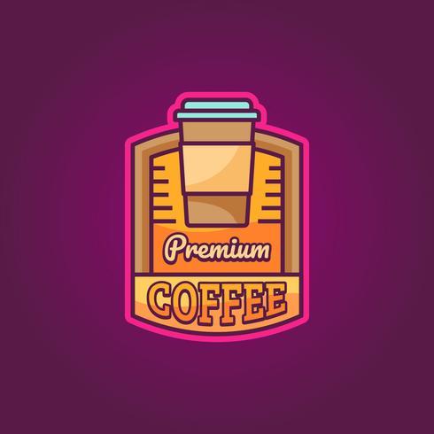 Premium koffie-logo
