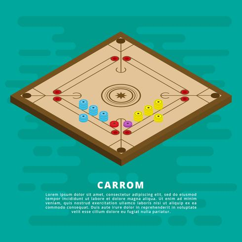 Illustration vectorielle de Carrom isométrique