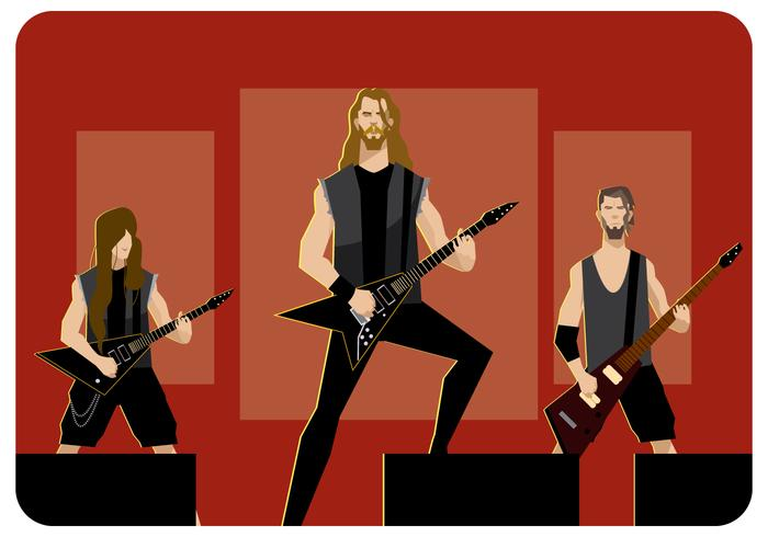 0f0f5dba Metal Band on Stage Vector - Download Free Vector Art, Stock ...