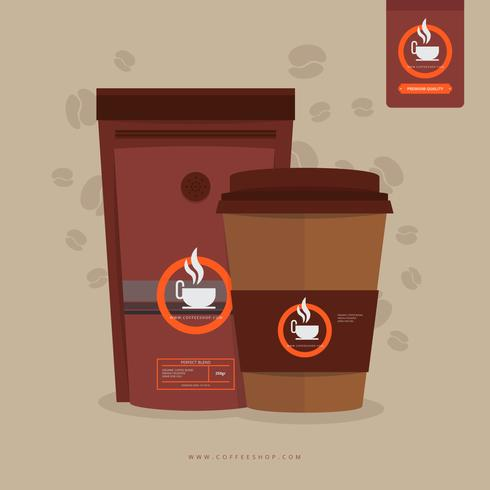 Coffee Shop Menu with Coffee Tools Equipment