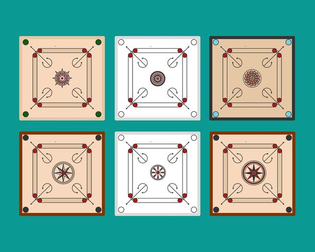 Carrom Boards Vektor