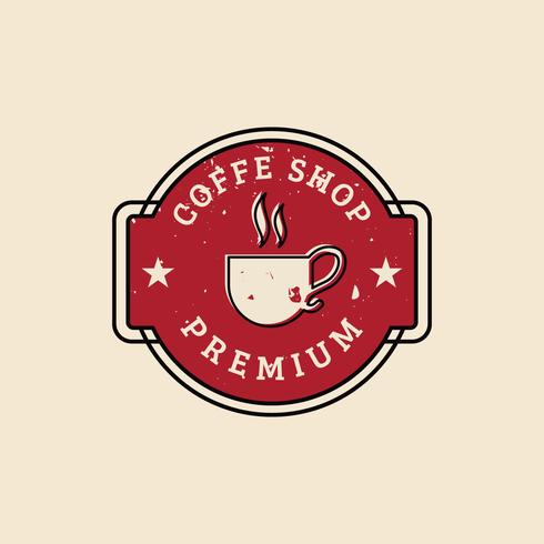 Vintage Coffee Shop Logo vector