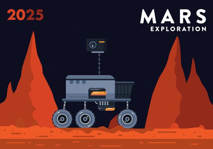 Marte vettoriale di esplorazione