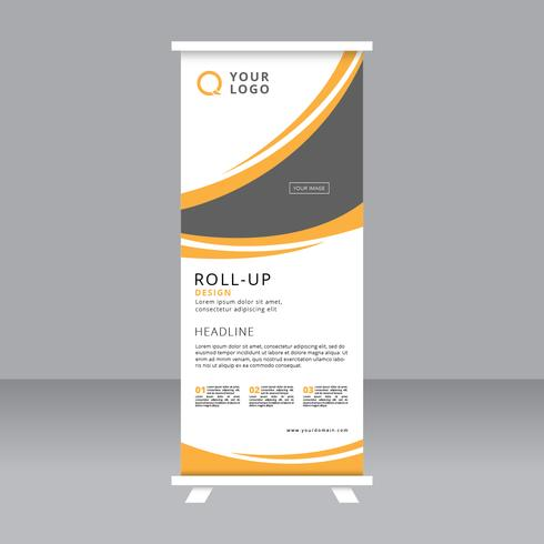 abstract roll up banner stand template download free vector art