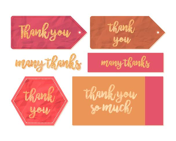 Vector Thank You Tags