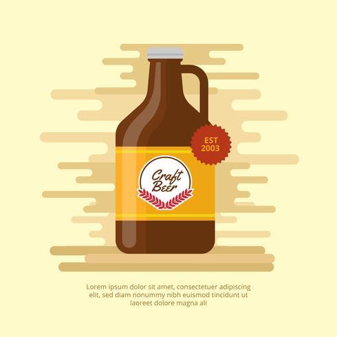 Illustration vectorielle de bière Growler