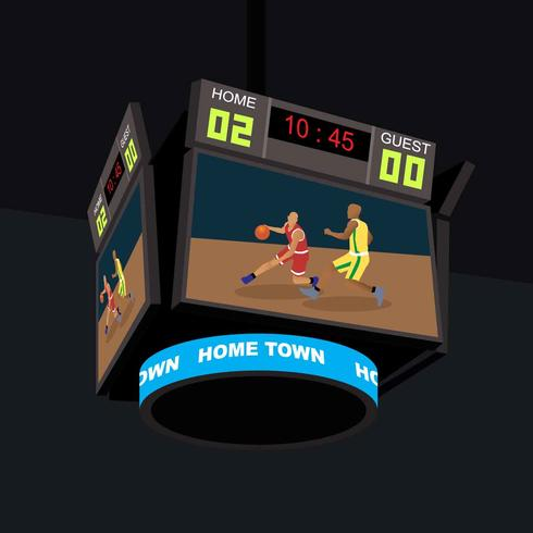 Basketbal Jumbotron Illustratie