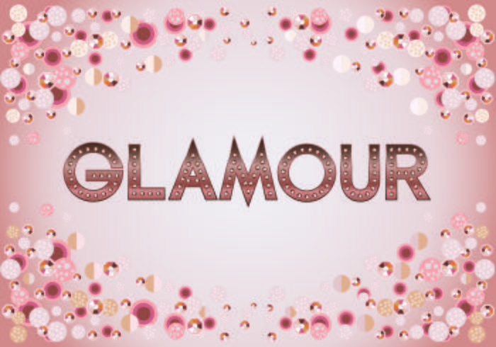 Beautiful Glamour Fashion Typography Metallic Rosegold text with Bokeh and Sparkling Bright Background