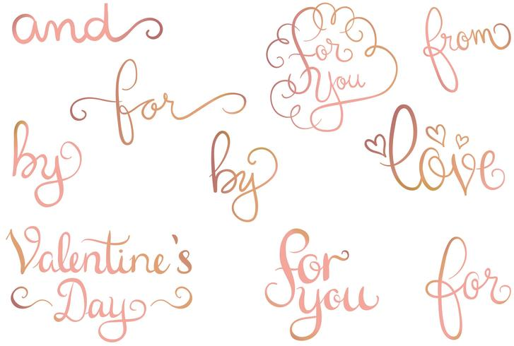 Rose Gold Love 2 Vectors
