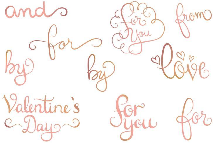 Rose Or Love 2 Vecteurs