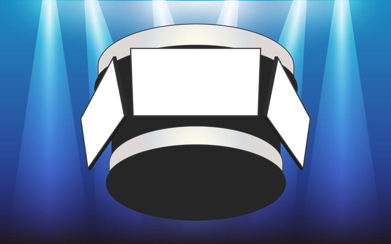 Espace copie de l'écran vide Jumbotron et Floodlights