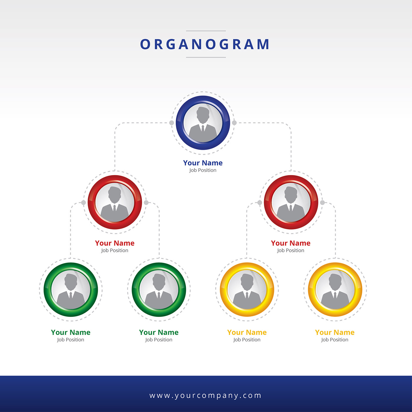 Organogram layout vector download free vector art stock for Organigram template