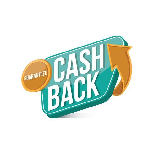 Bargeld-zurück Zeichen-Illustrations-Vektor