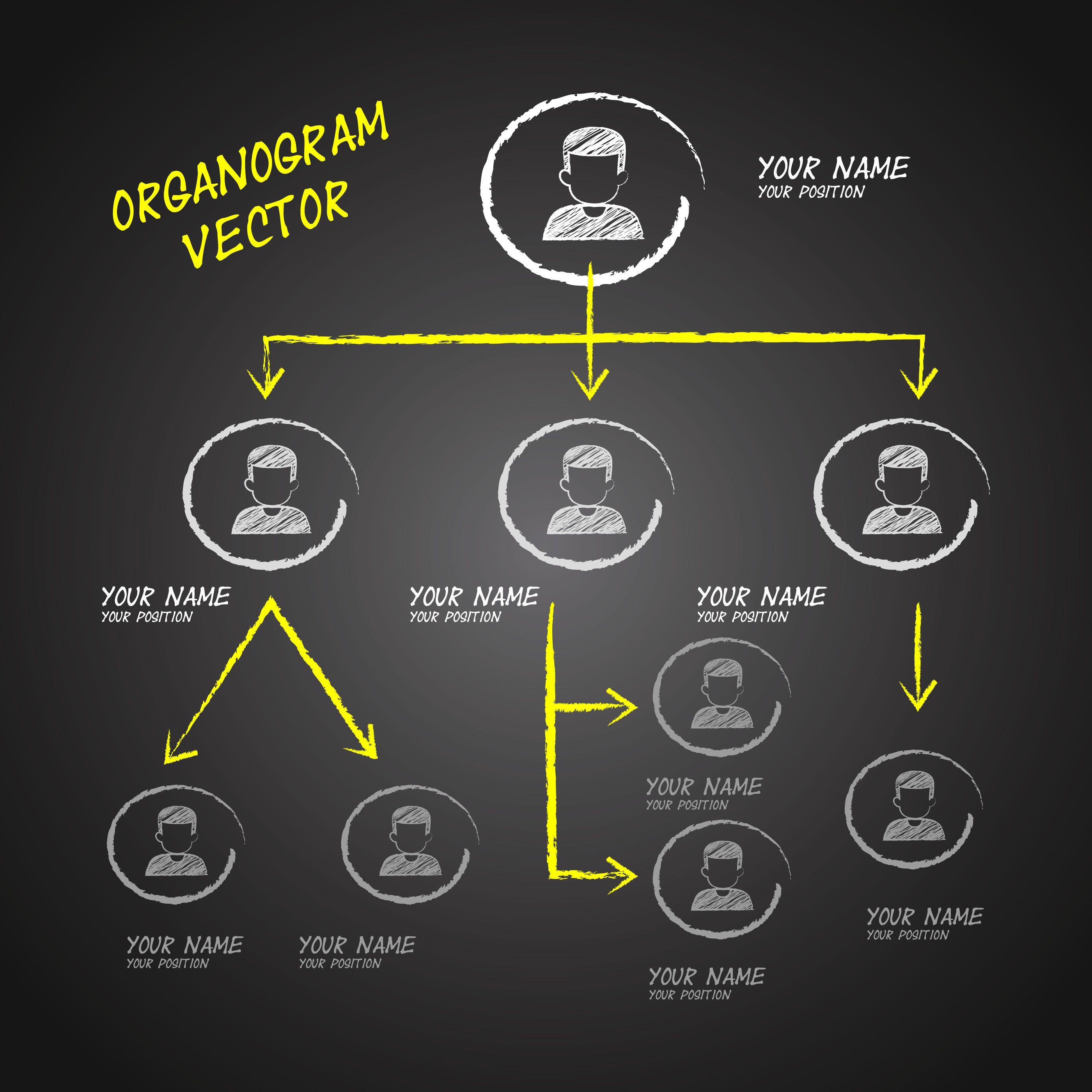 organogram chalkboard vector design download free vector