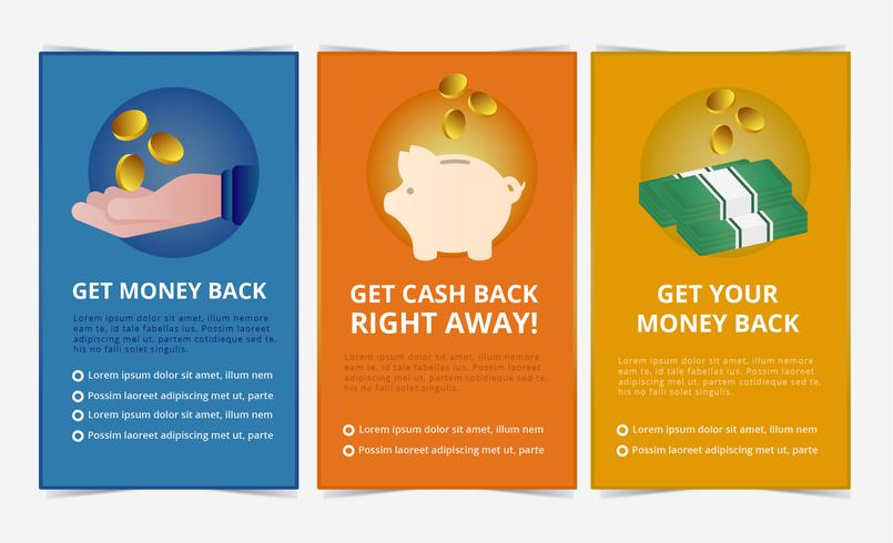 Vector Cashback-banners