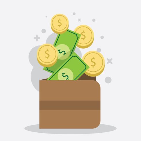 Illustration de la remise en argent plat