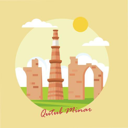 Qutub Minar Illustration Vector