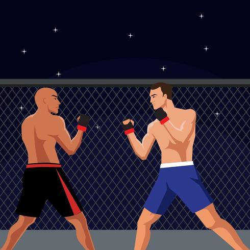 Illustration de vecteur de combat ultime