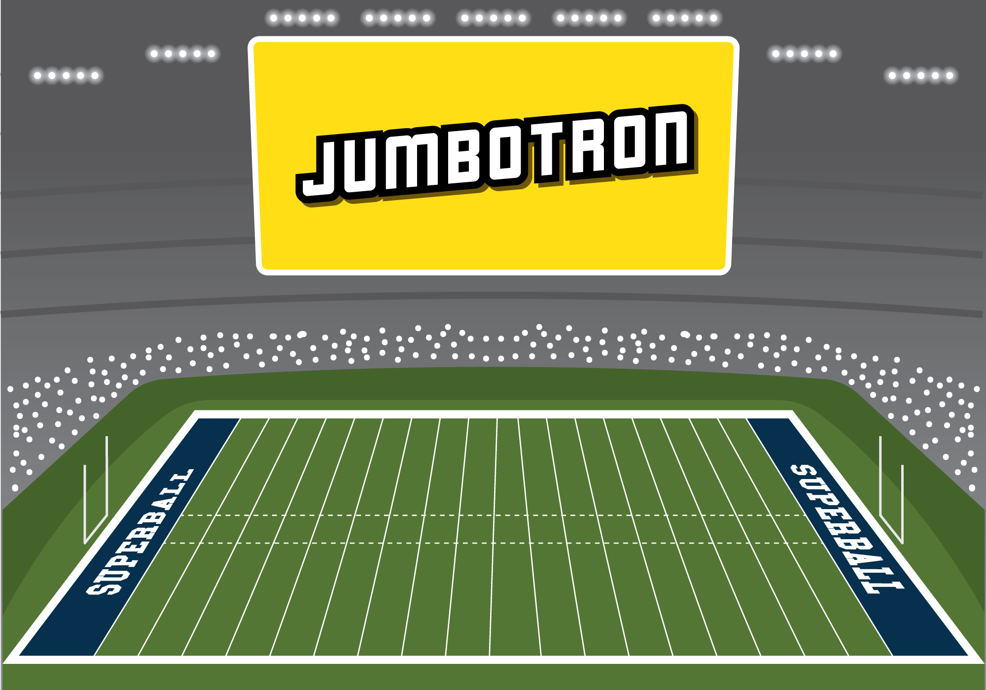 Big Screen On Rugby Field Download Free Vector Art