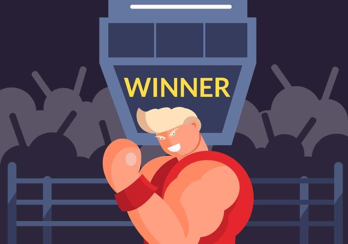 Vechter Winnaar Vector