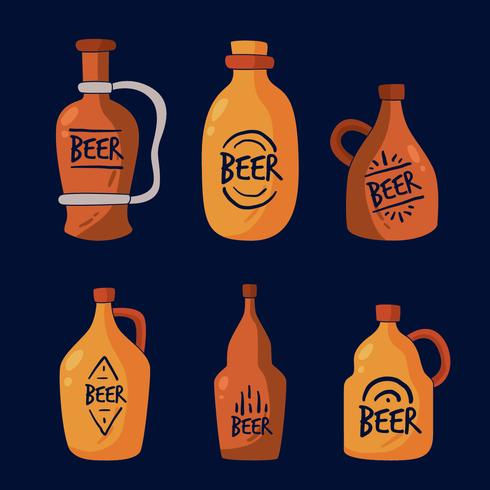Vecteur de collection de bière Growler