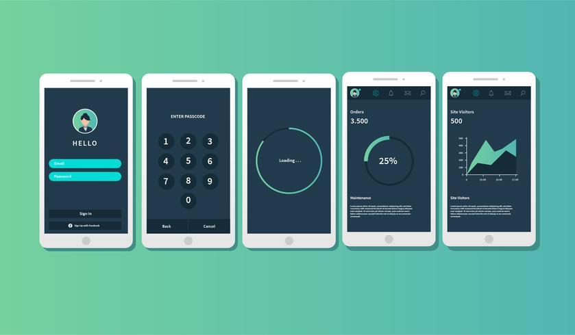 Mobiele app Gui