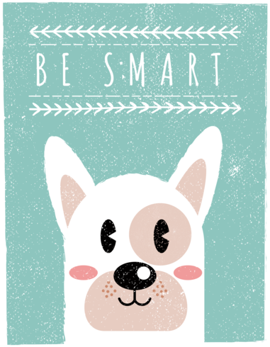 Scandinavian Style Dog Wall Art   Be Smart