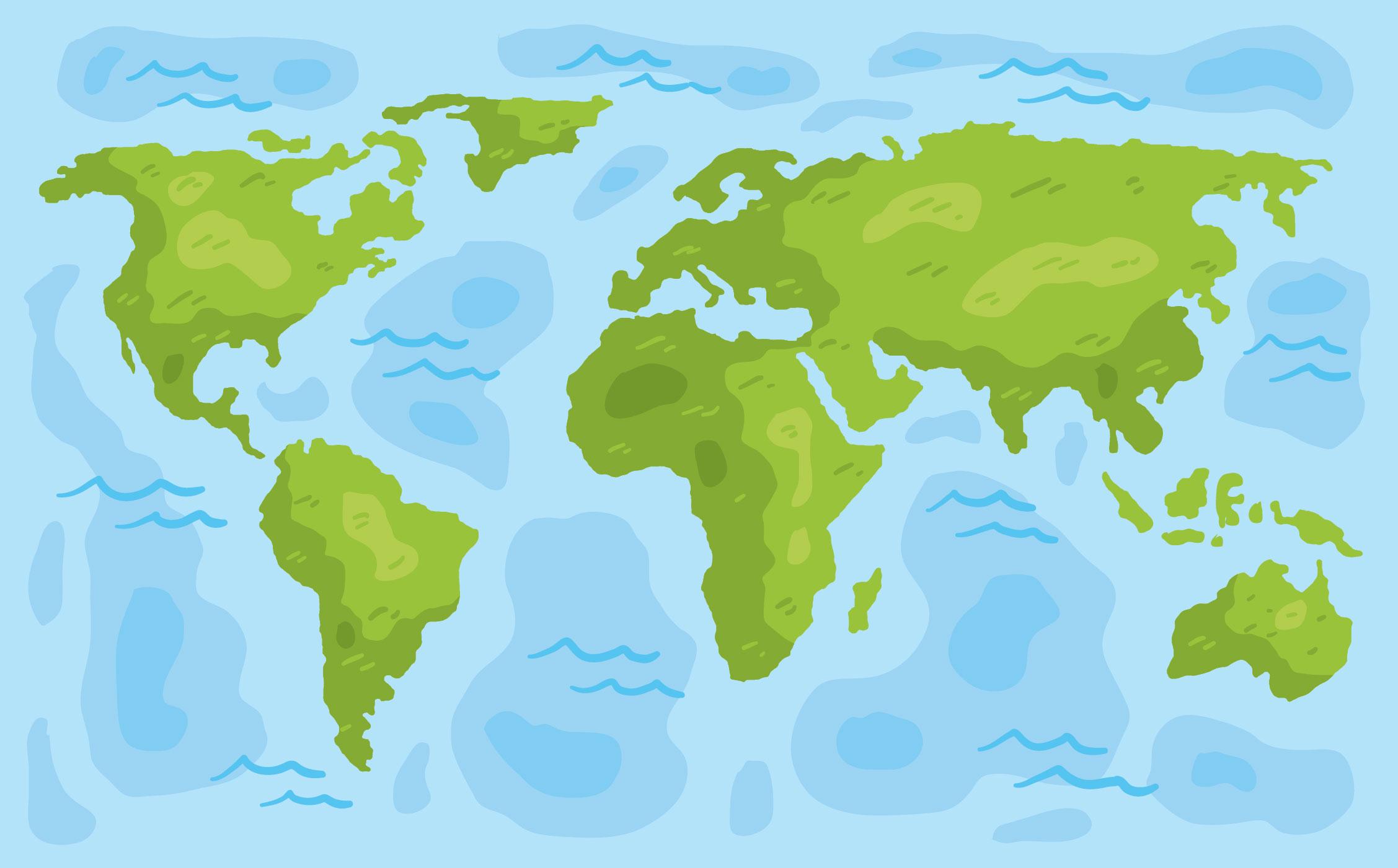 世界地圖卡通 免費下載 | 天天瘋後製