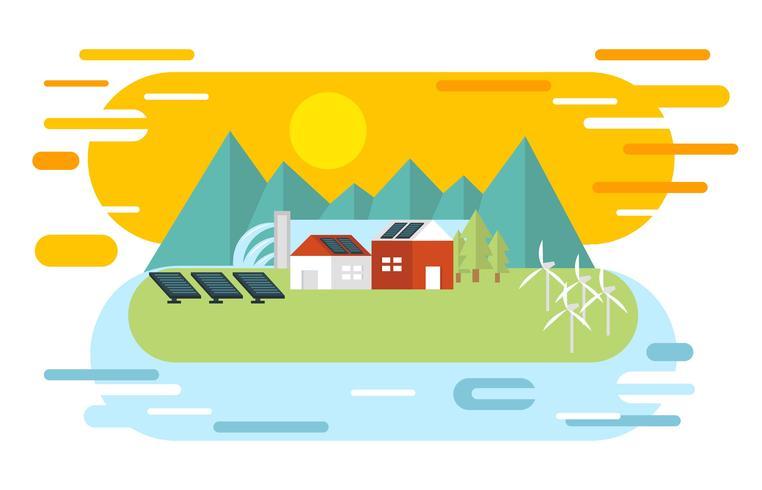 Flacher Illustrations-Vektor der natürlichen Ressourcen