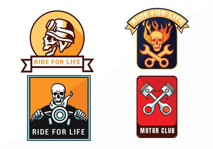 Pack de vecteur d'emblème moto Vintage