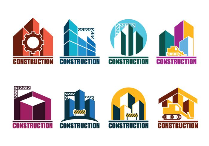Construction Logos Vector Set