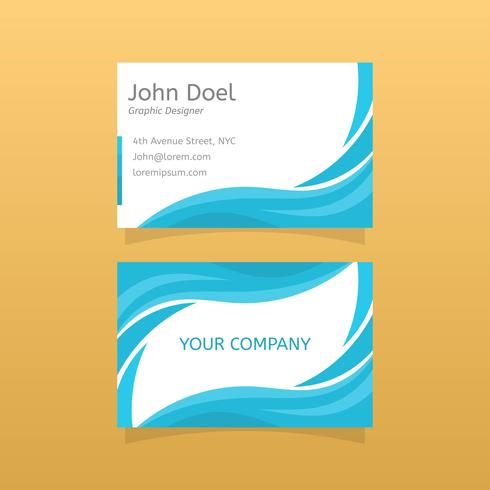 Flat Graphic Design Business Card Vector Template