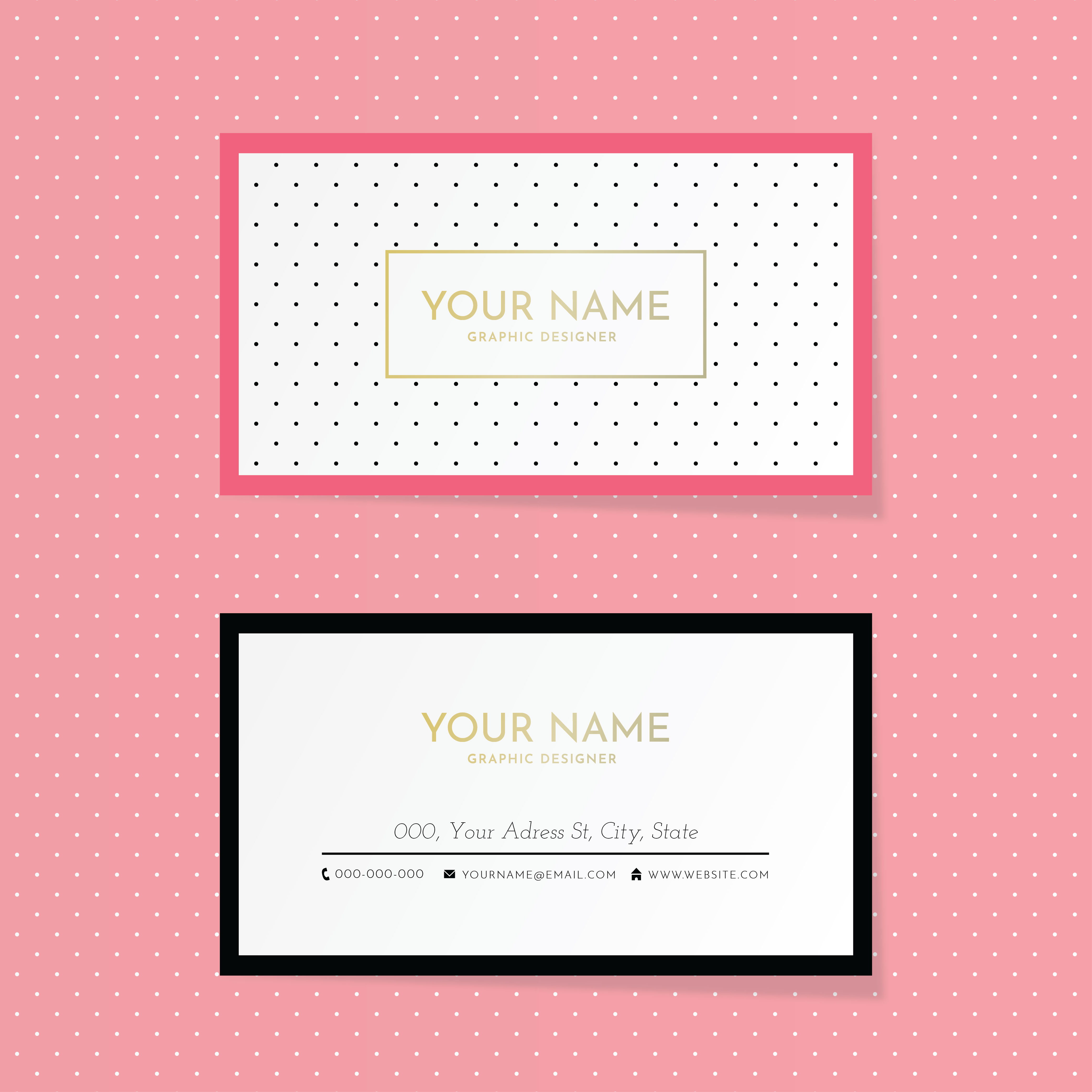 Free Vector Business Card Templates Free Downloads - Business card adobe illustrator template