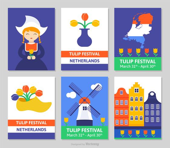 Netherlands Tulip Festival Vector Cards - Download Free Vector Art, Stock Graphics & Images