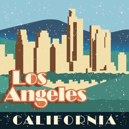 Vintage Los Angeles illustratie