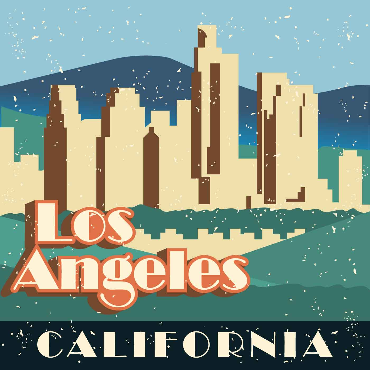 Hisaya Los Angeles: Vintage Los Angeles Illustration
