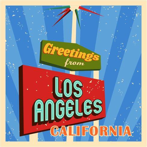 Typographie de Los Angeles Vintage