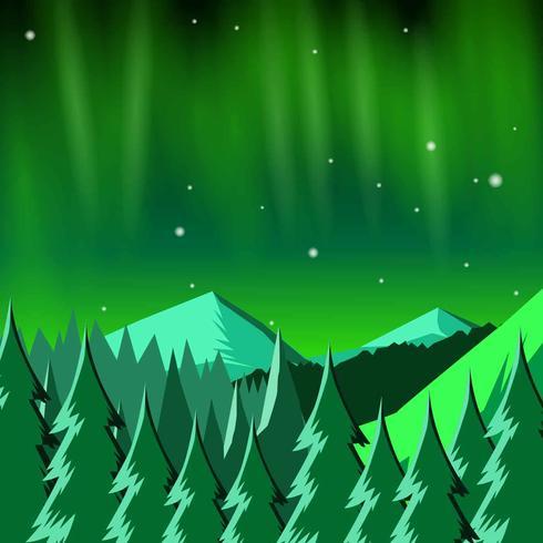 Paysage de lumières nordiques