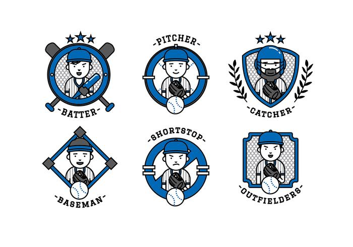 Softball Team Cartoon Vector